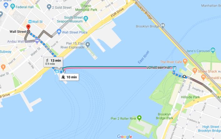Ferry de Brooklyn a Manhattan